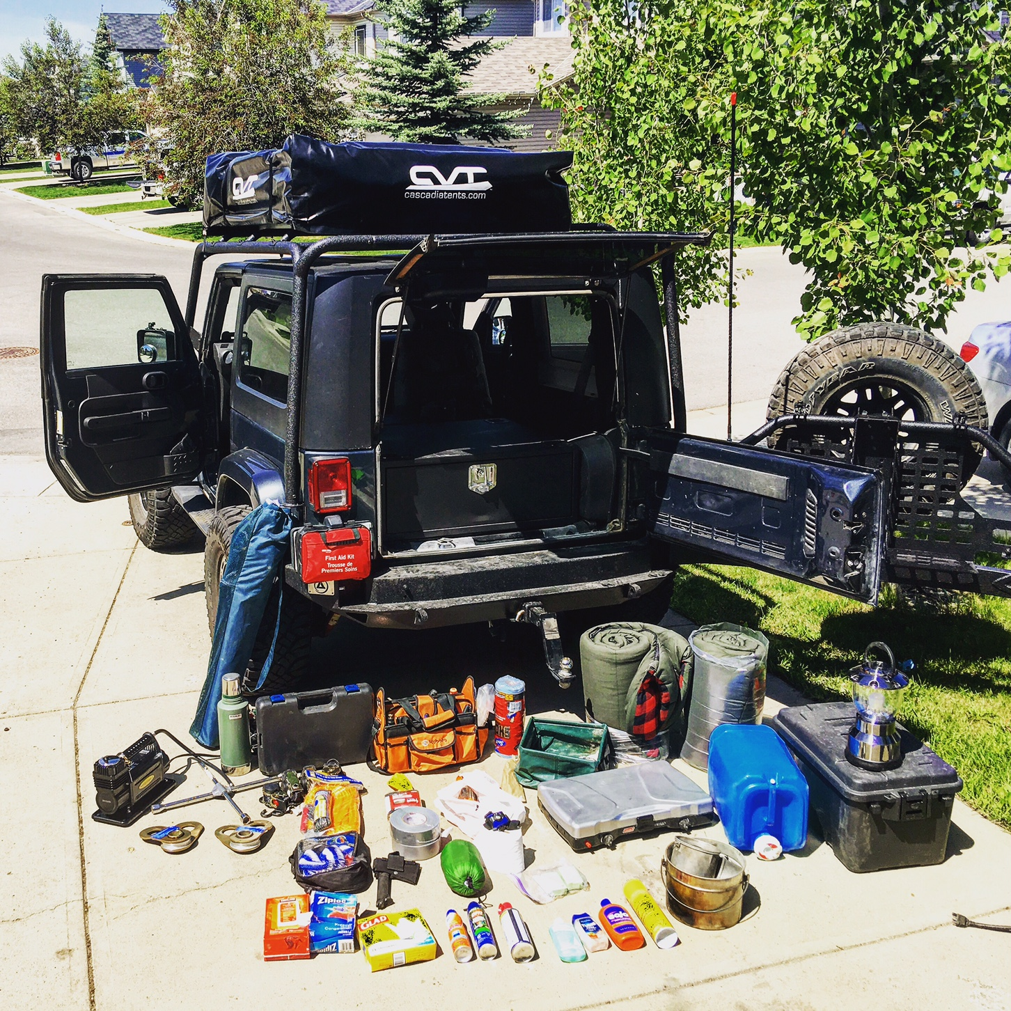 Storage Solutions Overlanding With A 2 Door Jeep Wrangler The Nooblanders